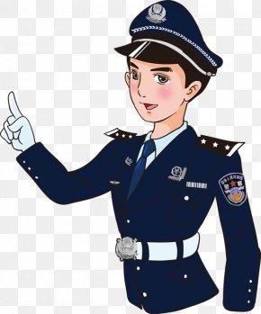 Police Uncle - Police Officer Cartoon Illustration PNG