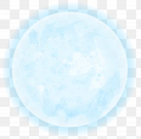 Blue Moon Clipart Image - Blue Circle Daytime Font Wallpaper PNG