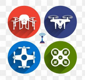 Flat UAV - Flat Design Unmanned Aerial Vehicle Icon PNG