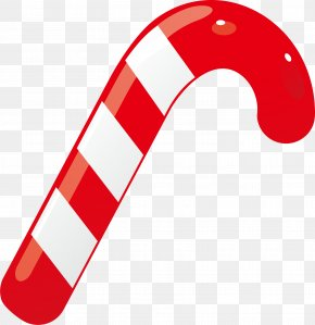 Red Walking Stick Candy - Candy Cane Stick Candy Caramel PNG