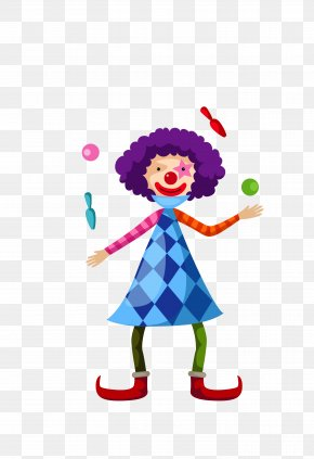 Vector Color Cartoon Juggling Clown - Clown Juggling Cartoon PNG