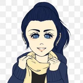 Coração - Face Eyebrow Black Hair Long Hair PNG