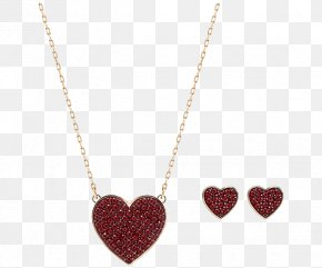 Swarovski Jewelry Sets Women's Necklace - Necklace Pendant Chain Heart Bling-bling PNG