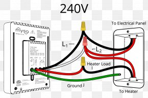 Wiring - Wiring Diagram Thermostat Electrical Wires & Cable PNG