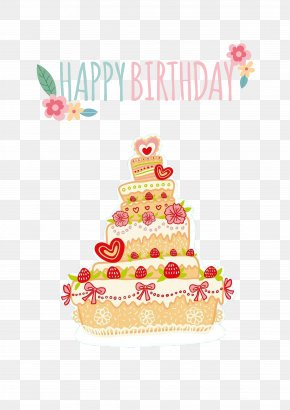 Cartoon Cake - Birthday Cake PNG