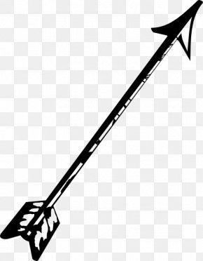 Arrow Line Cliparts - Bow And Arrow Indian Arrow Clip Art PNG