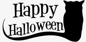 Celtic Halloween Cliparts - Halloween Black And White Jack-o-lantern Black Cat Clip Art PNG