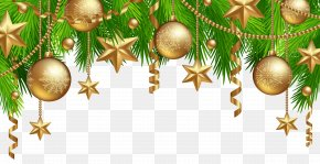 Christmas Border Decor Clipart Image - Christmas Poster Flyer PNG