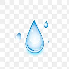 Cartoon Water Drops - Drop Distilled Water Light PNG