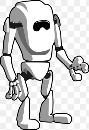 Robot Cliparts Black - Robot Black And White Clip Art PNG