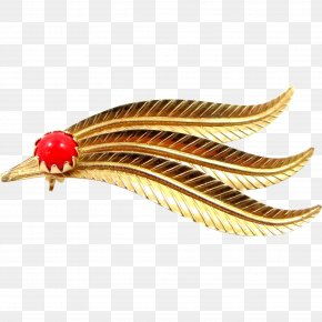 Feathers - Clothing Accessories Feather Jewellery Gold Coral PNG