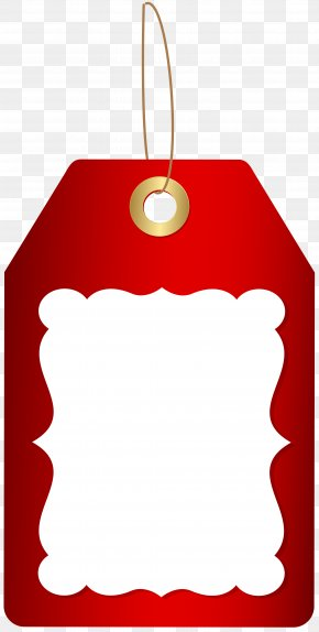 Red Deco Price Tag Clip Art Image - Tag Clip Art PNG