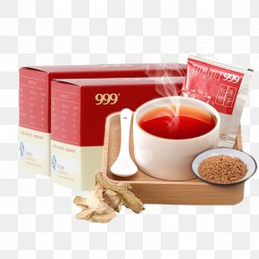 Brown Sugar, Ginger Tea On A Wooden Box - Ginger Tea Brown Sugar PNG