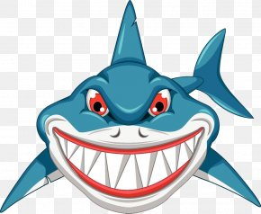 Hand-painted Cartoon Shark - Shark Royalty-free Cartoon Clip Art PNG