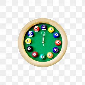 Billiard - Table Clock Pool Billiards Watch PNG