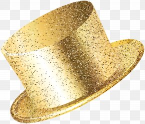 New Year Party Hat Gold Clip Art Image PNG