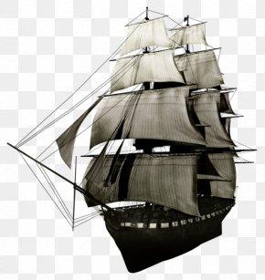Ancient Sailing - Sailing Ship Mast Sailboat PNG
