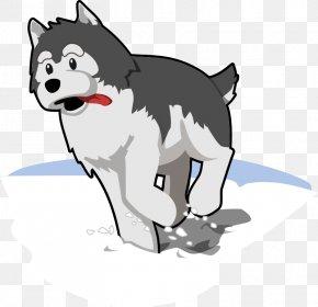 Cartoon Skiers - Siberian Husky Puppy Alaskan Husky Clip Art PNG