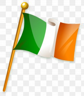 Vector Hand Painted Irish Flag - Flag Of Ireland PNG