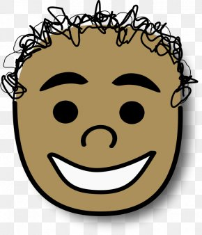 Unsolicited Curly Hair Boy - Anger Avatar Smiley Clip Art PNG