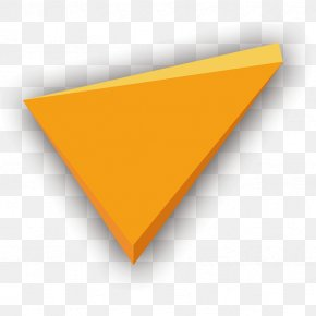 Yellow Triangle Geometry Perspective - Triangle Yellow Font PNG