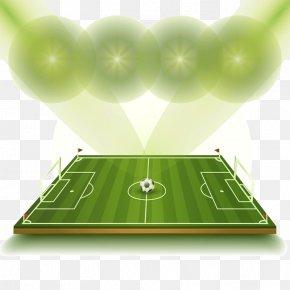 Luminescent Green Football Field Vector - King Abdullah Sports City Al-Ahli Saudi FC Al-Hilal FC Kings Cup Football PNG
