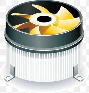 Exhaust Fan Vector - Laptop Video Card Power Supply Unit Computer Hardware Icon PNG