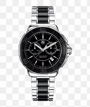 Tag Heuer Watches Women Watch Black Watches - TAG Heuer Watch Chronograph Swiss Made Quartz Clock PNG