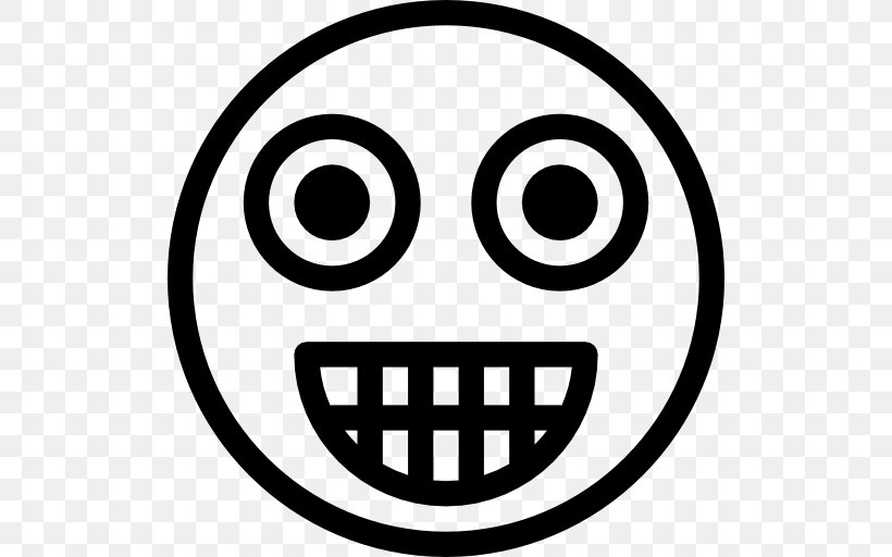 Emoticon, PNG, 512x512px, Emoticon, Avatar, Black And White, Face, Facial Expression Download Free