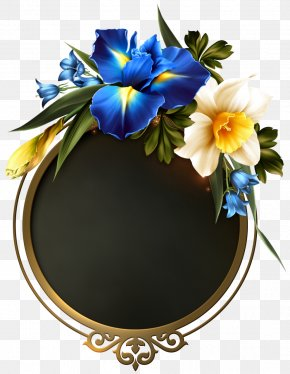 Flower - Floral Design Clip Art Borders And Frames Blue Image PNG