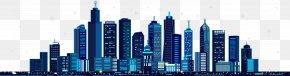 Blue City Building Vector - Mid-Autumn Festival Illustration PNG