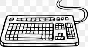 Hand Painted Black Keyboard - Computer Keyboard Numeric Keypad Space Bar PNG
