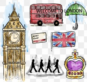 Vector Illustration Painted British Culture - London Clip Art PNG