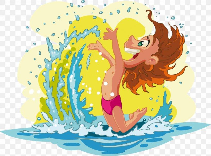 Beach Cartoon Child Summer, PNG, 1600x1184px, Beach, Art, Cartoon, Child, Fictional Character Download Free