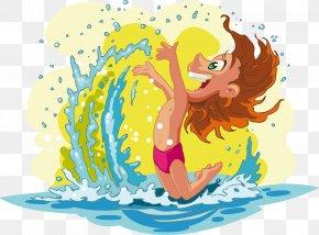 Summer Camp - Beach Cartoon Child Summer PNG