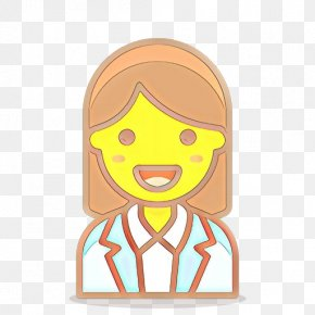 Fictional Character Smile - Cartoon Head Yellow Finger Smile PNG