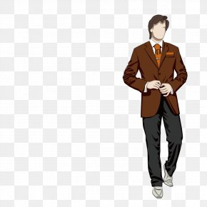 A Man Wearing A Suit - Fashion Design Man Model PNG