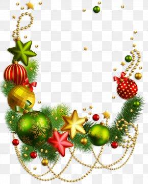 Transparent Christmas Decoration Clipart - Rudolph Christmas Decoration Santa Claus Christmas Ornament PNG