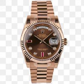 Watch - Watch Rolex Day-Date Gold Brown Diamonds PNG