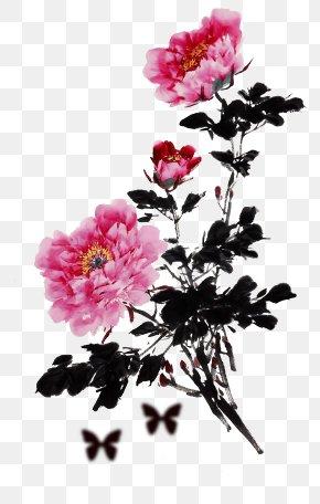 Peony - Moutan Peony Floral Design Clip Art PNG