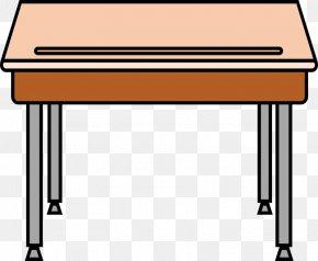 Student Table Cliparts - Student Table Desk Carteira Escolar Clip Art PNG
