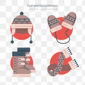 Vector Winter Snow Boots - Winter Snow Boot PNG