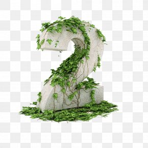 Vines Winding Number 2 - 3D Computer Graphics Numerical Digit Clip Art PNG