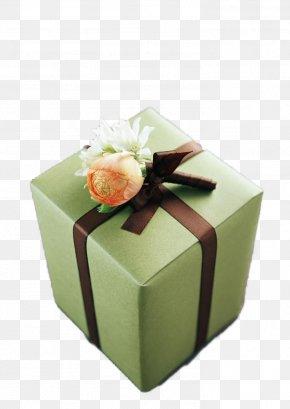 Green Gift Box - Paper Decorative Box Gift PNG