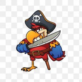 Parrot - Pirate Parrot Cartoon Piracy PNG
