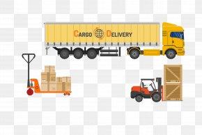 Vector Yellow Large Logistics Truck - Truck Car Logistics PNG