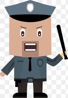 The Policeman Took His Baton - Police Officer Iconfinder Icon PNG