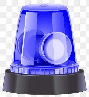 Blue Police Siren Clip Art Image - Siren Police Car Clip Art PNG