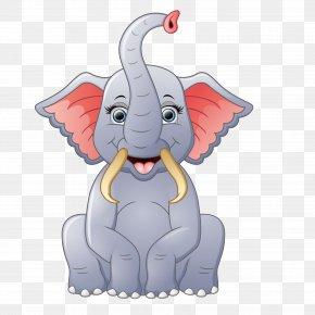 Cute Elephant - Elephant Euclidean Vector Illustration PNG