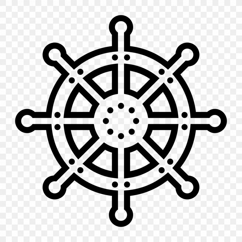 Ship's Wheel Computer Icons Steering Wheel, PNG, 1600x1600px, Ship S Wheel, Black And White, Boat, Flat Design, Helmsman Download Free